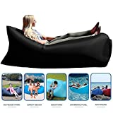 #9: Style Homez Inflatable Air Bed Lounger cum Sleeping Bag, XL Camping and Beach Hangout Sofa, Black Color