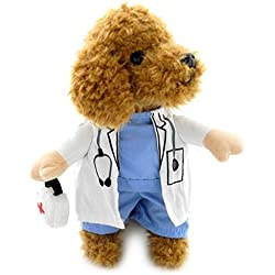 ranphy pequeño perro ropa para hembra Pet macho perchero de pared de disfraz de médico medicina caja decorada