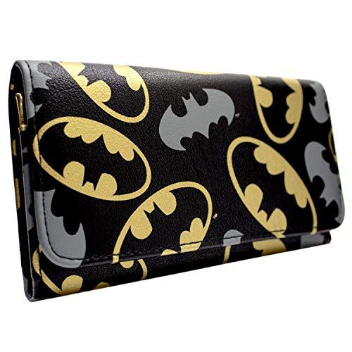 Returns Kostüm Batman - DC Batman Gold und Grau Emblems Schwarz Portemonnaie Geldbörse