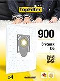 TopFilter 900, 4 sacs aspirateur pour Chromex, Eio boîte de sacs d'aspiration en non-tissé, 4 sacs à poussière (30 x 26 x 0,1 cm)