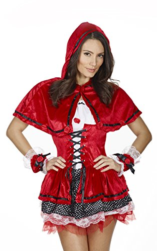 ne Fancy DreRed Riding Hood Adult Red Riding Hood Halloween Erwachsene Outfit Größe 8-10 (Little Red Riding Halloween Kostüme)