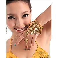 Hxfbyqrjh Frauen Bauchtanz Kostüm Zubehör Münze Halskette Ohrringe Kopfschmuck Hand Schmuck-Set preisvergleich bei fajdalomcsillapitas.eu