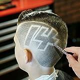 Barbiere Coltello Sopracciglio Rasoio Set da barba Set di forbici per capelli Set per tatuaggio Tatuaggio per capelli Barbiere Rasoio da barba manuale (10 lame)