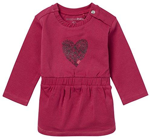 Noppies Baby-Mädchen Kleid G Dress Ls Alba, Rot (Cerise C076), 68