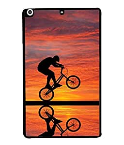 PrintVisa Designer Back Case Cover for Apple iPad Mini (cycle riding picture perfect shot )