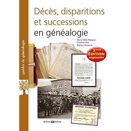 Décès, disparitions et successions en généalogie