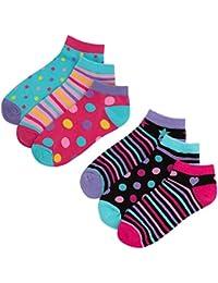 Zest Girls Cotton Rich Trainer Liner Socks