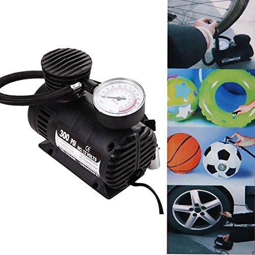 Wosonku 300 PSI 12V Car Auto Pump Tire Inflator Mini Air Compressor (Gauge 300 Psi)