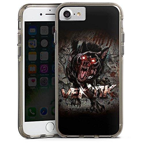 Apple iPhone X Silikon Hülle Case Schutzhülle Vektik Fanartikel Merchandise Hellhound Bumper Case transparent grau