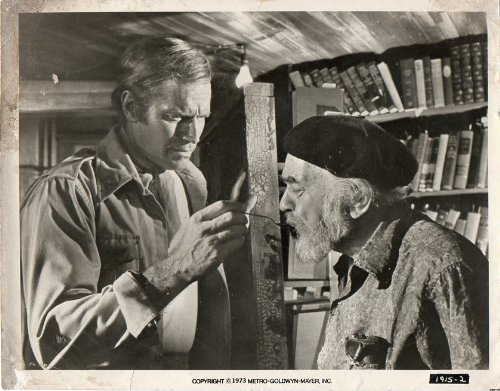 Original Photograph Soylent Green Charlton Heston Edward G Robinson