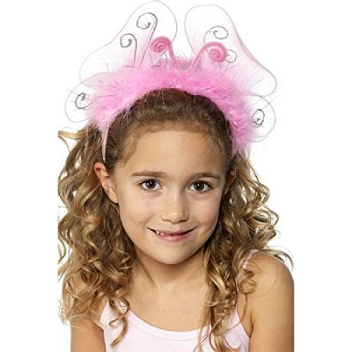 Mädchen rosa Light Up Instect Princess Haarreif Schmetterling Tier Kostüm Zubehör-Set (Kostüm Light Up Schmetterling)