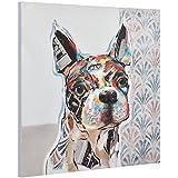 [art.work] Original mural para pared pintado a mano pintura bulldog francés sobre