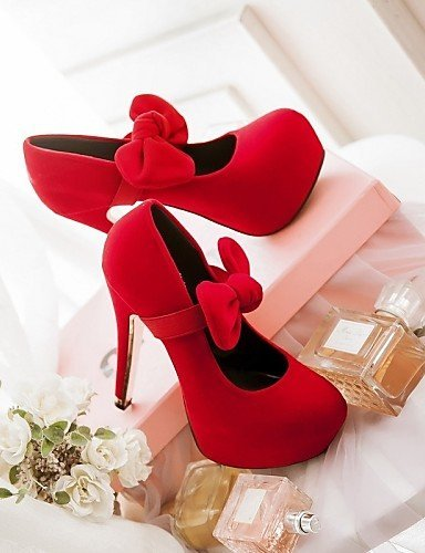 ShangYi Chaussures Femme - Mariage / Bureau & Travail / Soirée & Evénement - Noir / Bleu / Rouge - Talon Aiguille - Talons - Talons - Similicuir Blue