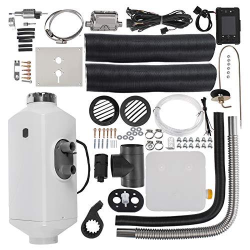 HODOY Riscaldatore digitale 5KW Termostato diesel Riscaldatore elettrico 12V Riscaldatore elettrico a gas per camper Camper e autobus (12V 5KW con LCD + silenziatore)