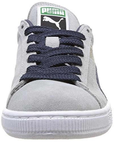 Puma Suede Classic+, Baskets Basses Mixte Adulte Gris (Limestone/Navy/White/Gold)