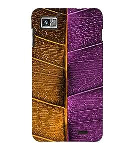 Fuson Premium Bicolored Leaf Printed Hard Plastic Back Case Cover for Lenovo S860