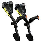 Ergobaum 7G Adjustable Folding Ergonomic Shock-Absorbing Long Term Crutches (Pair)