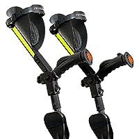 Ergobaum 7G Adjustable Folding Ergonomic Shock-Absorbing Long Term Crutches (Pair)