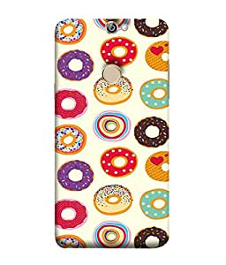 PrintVisa Designer Back Case Cover for Coolpad Max A8 (Cookies Donuts Wada Colourful Food)
