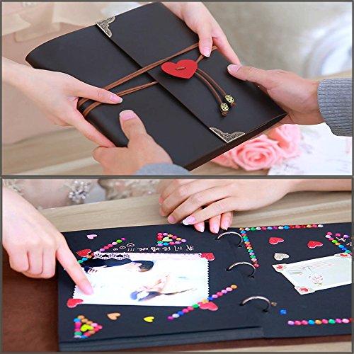 Favoloso YAOHU Scrapbook Album Foto, 24x27 Vintage Amore Album Fotografico  ZB26
