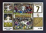 Cristiano Ronaldo Real Madrid SIGNED Autograph Fanartikel, gerahmt MDF
