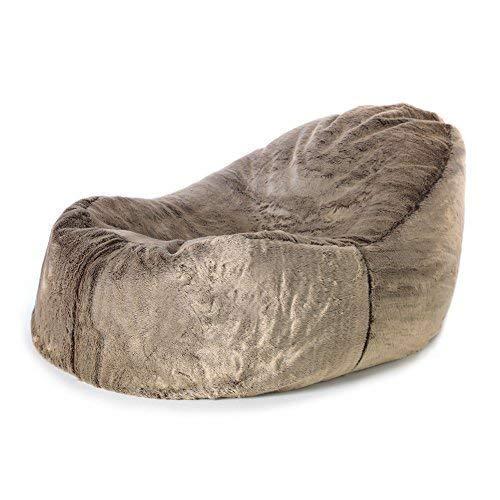 Icon Traum Liege Sitzsack - 110cm x 80cm, Riesiges Sitzsack-Tagesbett aus Kunstfell