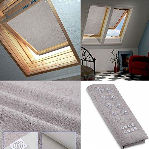 HDM 76 * 93CM Beige Bloque tragaluz estor para Velux ventanas de techo - Protector solar | Varios tamaños - Protección UV