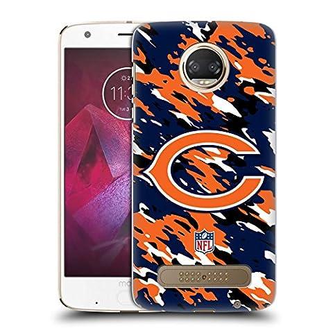Official NFL Camou Chicago Bears Logo Hard Back Case for Motorola Moto Z2 Play