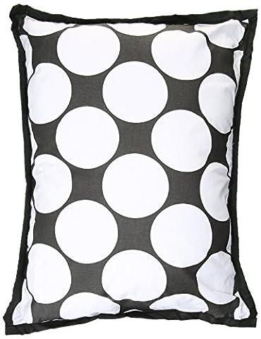 bacati–Pois/rayures Noir/blanc/DEC broches Taie d'oreiller