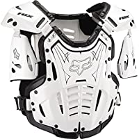 Fox Racing Airframe Men's Roost Deflector Off-Road Motorcycle Body Armor - White/Black / Medium by Fox Racing