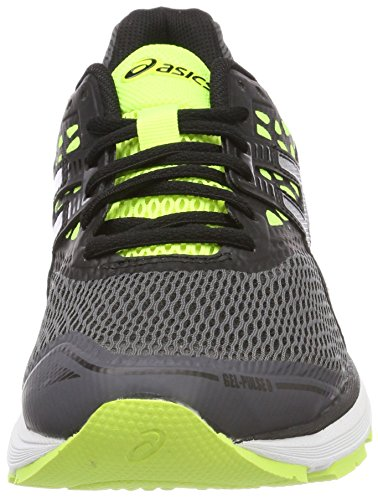 Asics Gel-Pulse 9, Chaussures de Running Homme Gris (Carbonsilversafety Yellow 9793)