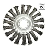 Stahlbürste Zopfrundbrüste Ø 150 mm Schleifbürste Winkelschleifer | H12