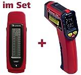 Kaleas Feuchtemesser MD-15 Feuchtemessgerät Feuchteindikator (34035) und Kaleas Infrarot KlimaDetector Schimmelwarner Taupunktmesser (34030) im Set (34035.K1)