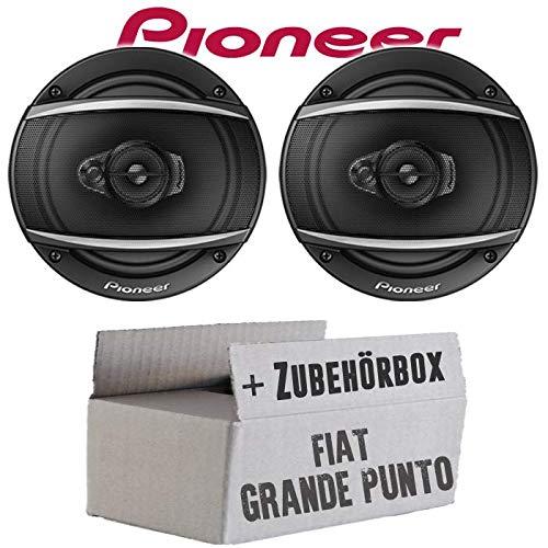 Lautsprecher Boxen Pioneer TS-A1670F - 16 cm 3-Weg Koaxiallautsprecher Auto Einbausatz - Einbauset für FIAT Grande Punto 199 Front - JUST SOUND best choice for caraudio