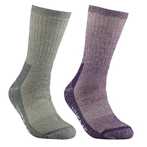 Women's Merino Wool Hiking Walking Trekking Socks - YUEDGE Merino Wool Cushioned Crew Socks For Hiking Backpacking Climbing Winter