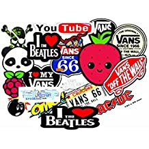 Elton 3M Vinyl Sticker Pack [20-Pcs], Lovely 3M Vinyl VANS & Assorted Stickers For Laptop, Cars, Motorcycle, PS4. X Box One . Guitar Bicycle, Skateboard, Luggage - Waterproof Random Sticker Pack