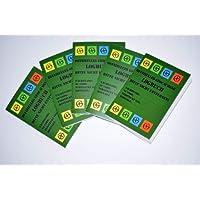 5er Pack Geocaching Logbücher 40 Seiten - für Dosen, Logbuch für Behälter - Regular- normal Deutscher Hinweis