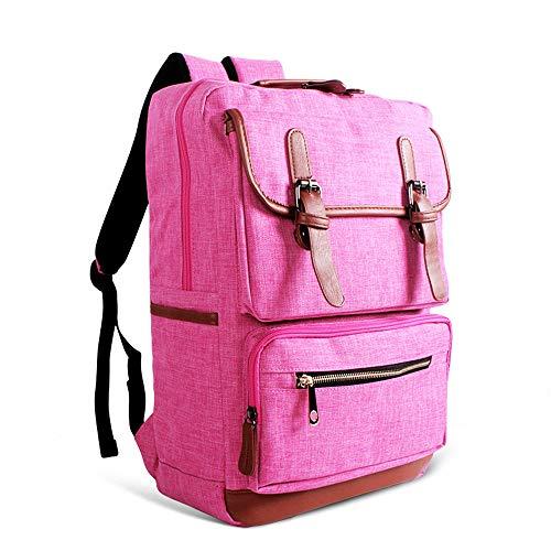 QIAN Rucksack Schülerin der Mittelschule Reise-Computerrucksack - Hochwertiges Nylonmaterial mit hoher Kapazität - geeignet für Arbeit, Reisen, Schule,pink