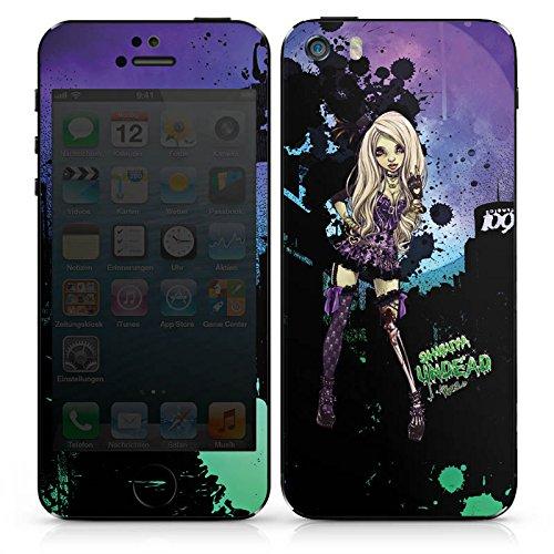 Apple iPhone 5s Case Skin Sticker aus Vinyl-Folie Aufkleber Art Mädchen Comic DesignSkins® glänzend