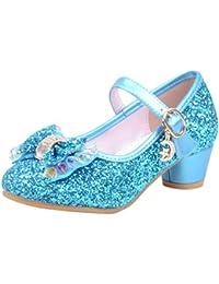 Zapatos de tacón Alto con Perlas de Bling para niñas (3-14Y),