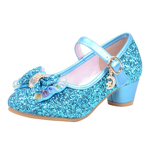 Kinder (26-37) The Heeled Cute Bow Tie Sweet Lolita Girls Love Solid Round Princess Shoes More Softer
