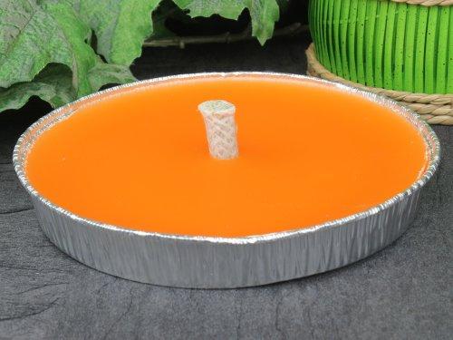 Mandarin Kerze (Flammschale Alu Kerze Kerzenschale Markenkerze Ø 165 mm, mandarin orange)