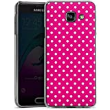Samsung Galaxy A3 (2016) Housse Étui Protection Coque Polka petits points Rose vif Motif