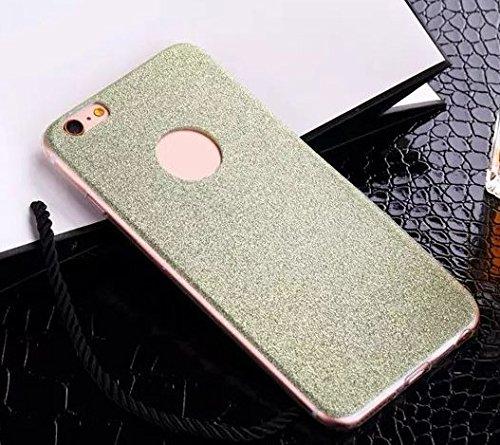 Coque Bumper Cover iPhone 5 / 5s - Paillette strass glitter bling luxe fete THEcoque DESIGN case - Bleu VERT