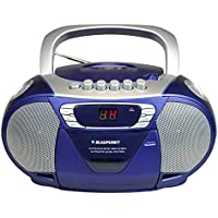 BLAUPUNKT B 11 BL tragbares CD-Radio mit Kassettenplayer (LED-Display, Backlight, 2x 1 Watt, UKW/MW-Tuner) blau