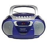 BLAUPUNKT B 11 BL tragbares CD-Radio mit Kassettenplayer (LED-Display, Backlight, 2X 1 Watt, UKW/MW-Tuner) Blau
