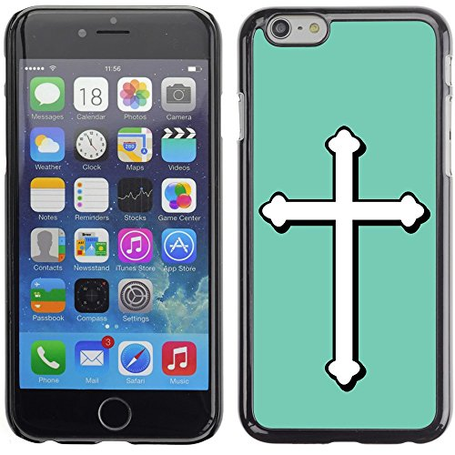 Graphic4You Kreuzr Design Harte Hülle Case Tasche Schutzhülle für Apple iPhone 6 Plus / 6S Plus (Aqua Blau) Aqua Blau