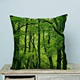Advanced technology Printed Popular Dream Amazing Beautiful Fresh Green Forest Custom Zippered Pillow Cases 20x20 inches(Two sides)