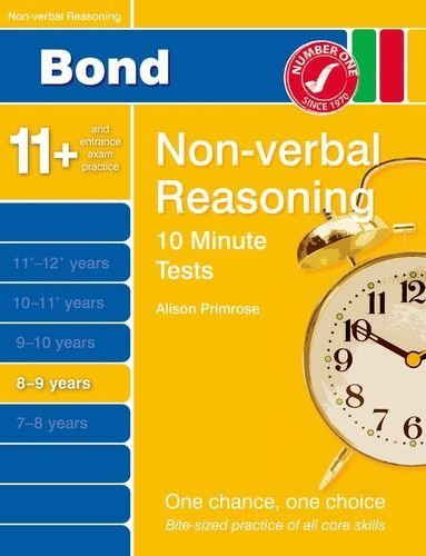 Bond 10 Minute Tests Non-Verbal Reasoning 8-9 yrs by Alison Primrose (2014-11-01)