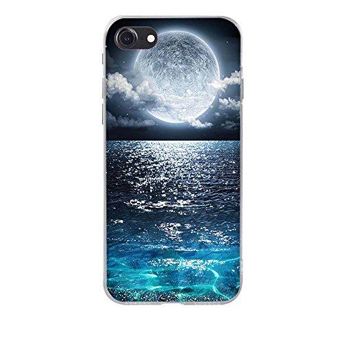 Apple iPhone 7 Custodia Cover, Fubaoda Silicone Caso [super luna] Molle di TPU Cristallo Trasparente Sottile Anti Scivolo Case Posteriore Della Copertura Della Protezione Anti-urto per Apple iPhone 7 pic: 02